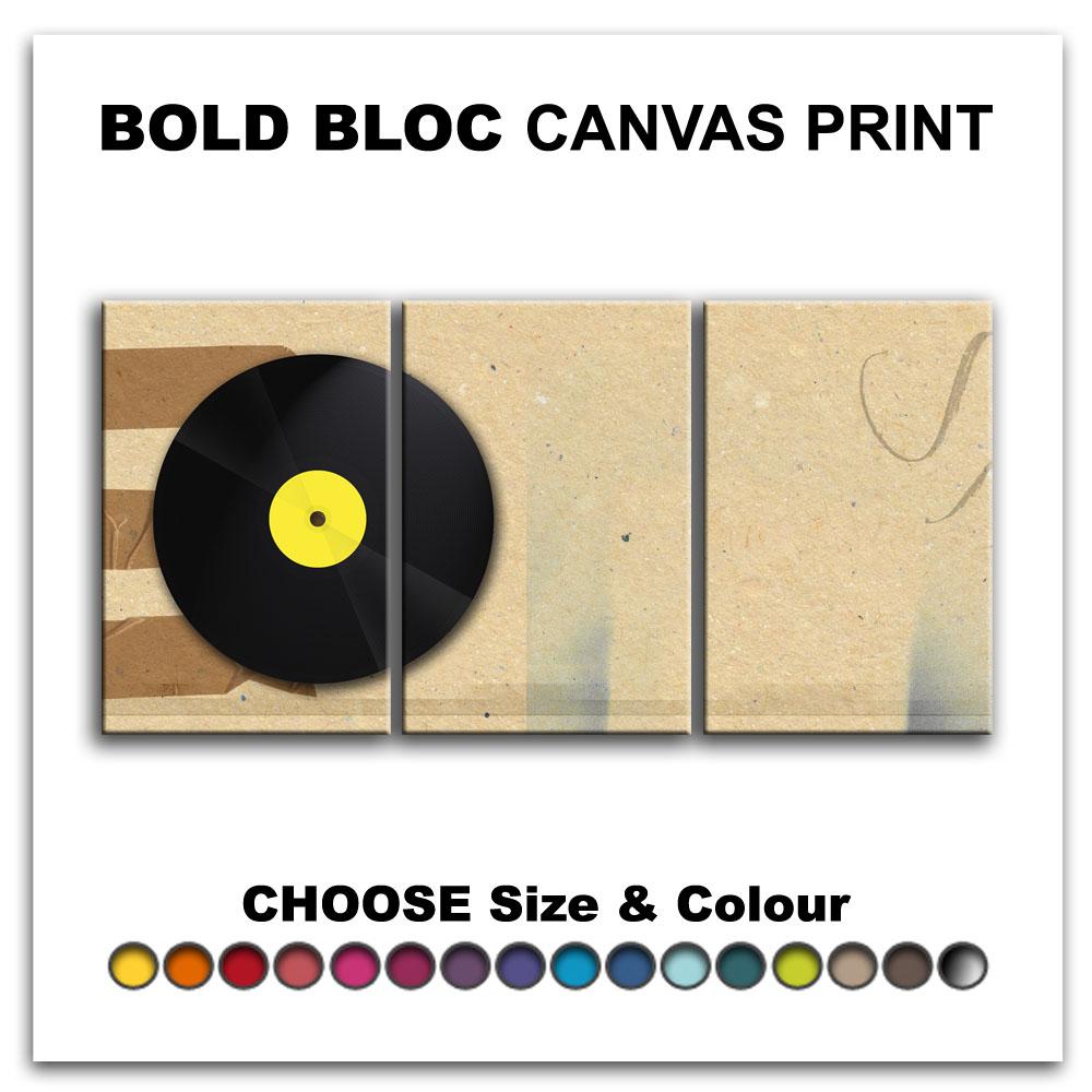 Vinyl Record MUSIC DJ CLUB Canvas Art Print Box Framed Picture Wall ...