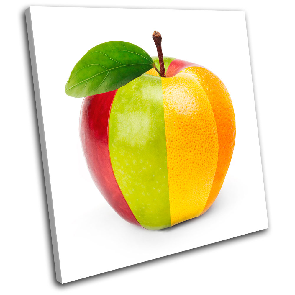 mixed fruit concept Food Kitchen SINGLE CANVAS WALL ART Picture ...