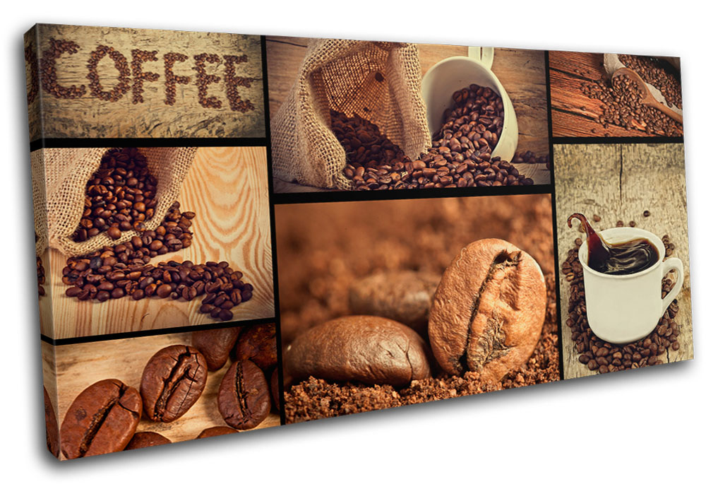 lovely Kitchen Canvas Wall Art Part - 3: Details about Coffee shop Food Kitchen SINGLE CANVAS WALL ART Picture Print  VA
