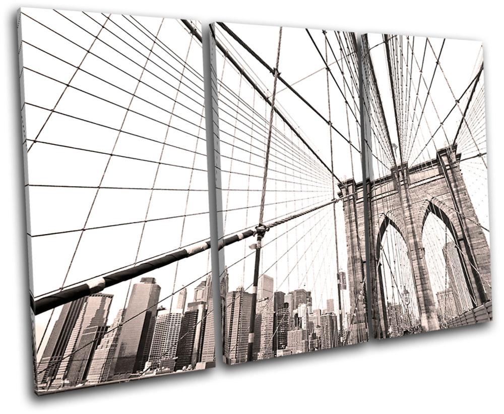 Brooklyn Bridge Oleg Lugovskoy Photograph Cityscape City Print Poster 24x36