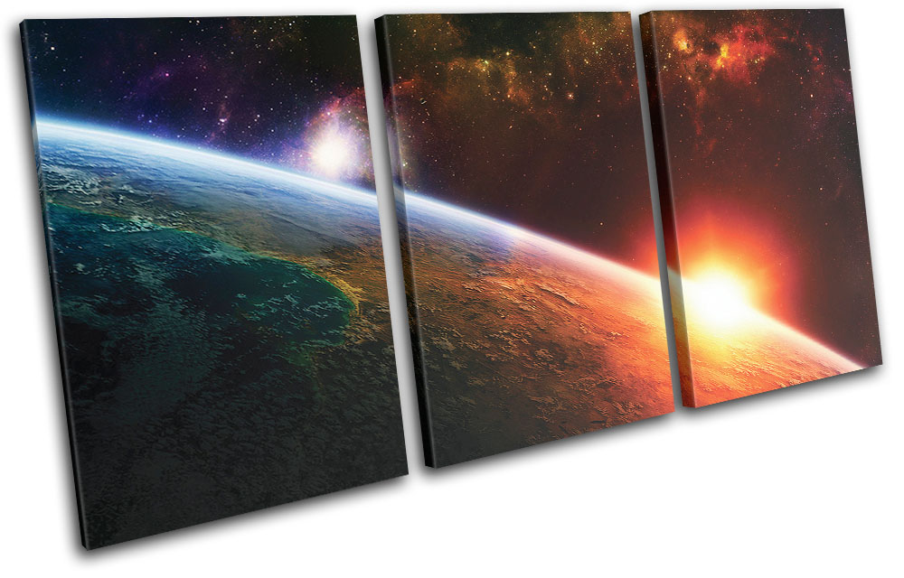 Image Of Space Wall Art Amazoncom 5 Panel Wall Art Star Field In ...
