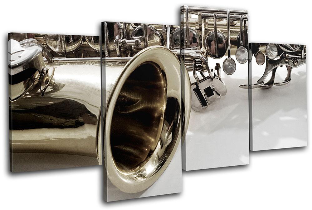 Saxophone Musical MULTI CANVAS WALL ART Picture Print VA | eBay
