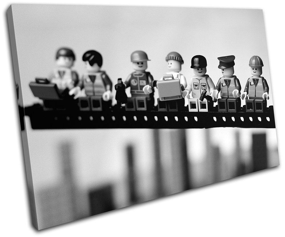 Lunch Brick Men Humour SINGLE CANVAS WALL ART Picture Print VA