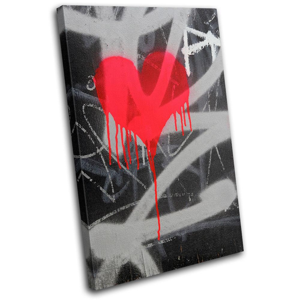 Graffitti Urban Art Graffiti MULTI CANVAS WALL ART Picture Print VA