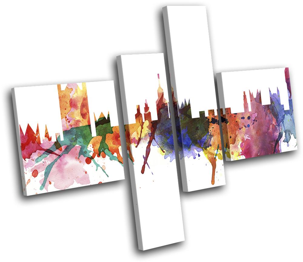 Design Abstract MULTI CANVAS WALL ART Picture Print VA