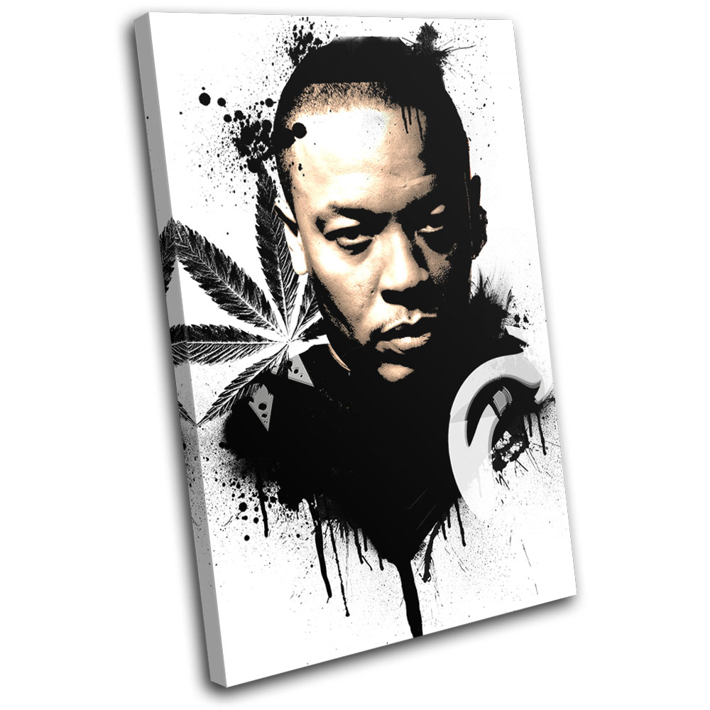 Dr Dre Grunge Abstract Musical SINGLE CANVAS WALL ART Picture Print VA