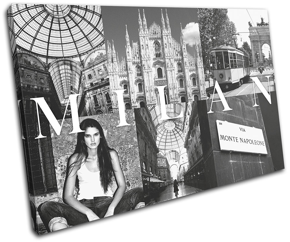 Vintage Mediterranean  TREBLE CANVAS WALL ART Picture Print VA