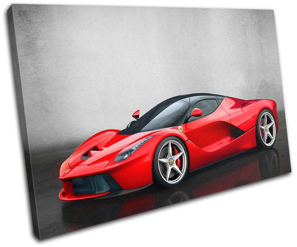 La Ferrari Exotic Supercar Cars SINGLE CANVAS WALL ART